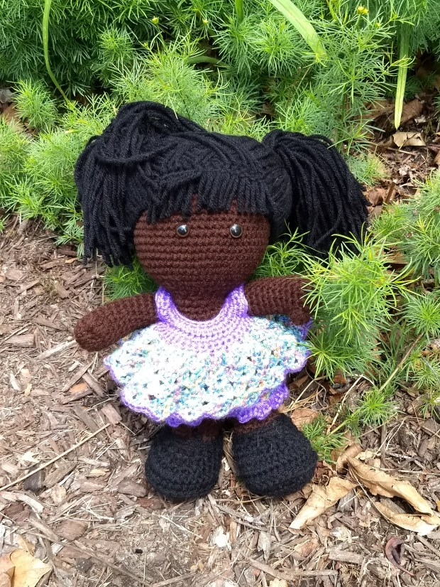 black hair girl outside